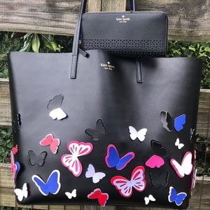 Kate Spade Butterfly Super Rare XL Tote & Wallet